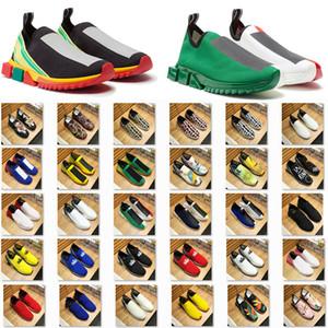 Sorrento Sneaker Sock Shoes das mulheres dos homens Azul Amarelo Preto respirável Casual estiramento Sports malha Gentleman Tamanho Lady instrutor 36-46
