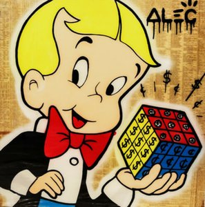 Alec Monopoly Graffiti art Richie Rich Rubik's Cube Home Decor Handcrafts  HD Print Oil Painting On Canvas Wall Art Canvas Pictures 1247