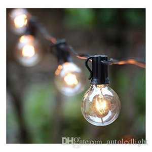 G40 String Lights with 25 Globe Bulbs-UL Listed for Indoor Outdoor Commercial Decor, Wedding Lights, Patio Lights, Outdoor String Light