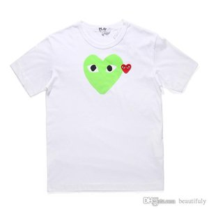 For Unisex COMMES Tshirts With Cotton Short Sleeve Des OFF Holiday Embroidery Heart tee GARCONS White CDG Cheap Clothing