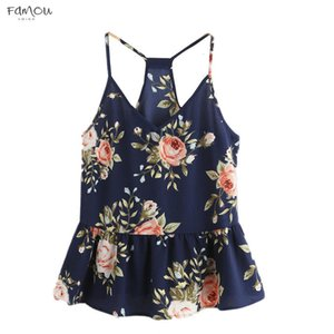 Women Floral Casual Sleeveless Vest Tank Shirt Cami Top Floral 100% Cotton Print Top Women Summer Sexy Female T Shirts C1935