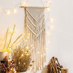 The latest 110X40CM size hand-woven tassel tapestry home decoration bedroom background wall hanging tapestry, free shipping