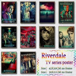 Meslekler Sanat imO8 # Retro Posterler, Boyama Salon Ev Duvar Dekorasyonu için Riverdale Poster Vintage Kraft Kağıt Poster Baskılar