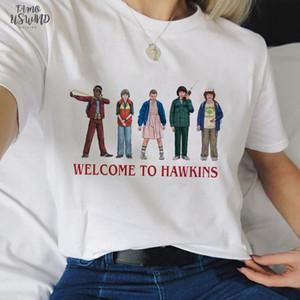 Stranger Things 3 Funny Tshirt Women Eleven Cartoon Printed T Shirt Upside Down Female Women Shirt Harajuku Tshirt