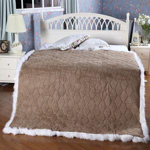 Wholesale-Pure wool mattress Australian sheepskin bed plate True fur one A single double bed upset the student's dormitory dJaU#