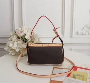 Bolsos monederos de acero Remaches Mini Negro Blanco Tricolor VINTAGE bolso de las mujeres de la marca clásico del estilo de los bolsos de hombro del cuero auténtico lujo diseñador