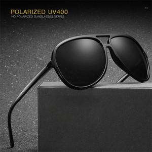 Zerosun (150mm) Adam Siyah Havacılık HD TAC Polaroid Marka Kalite UV4001 için Mens Polarize Güneş Gözlüğü TR90 Sürüş Güneş Gözlükleri