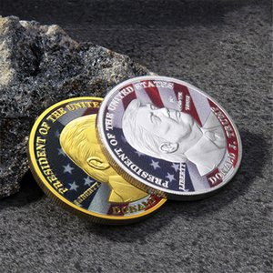 2020 Monete Donald Trump Presidente Moneta Commemorativa Trump Oro Argento Ferro da collezione regalo Monete America del Presidente Moneta Commemorativa
