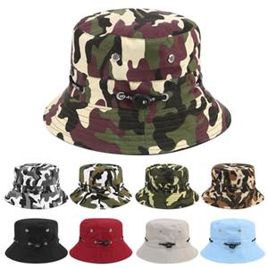 حار مبيعات السفر في الهواء الطلق مظلة كاب مكافحة حروق الشمس القبعات حزب قبعة صياد قماش التمويه قبعة T9I00459