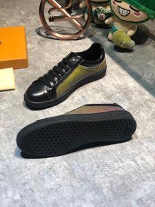zapatos de diseñador para hombre black rainbow Stan mens lace-up flats Plate-forme 3D alphabet printing casual#1F