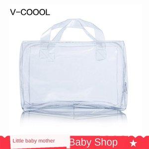 V-Coool special liner PVC transparent dry-wet separation storage bottle blue waterproof ice waterproof bag ice bag