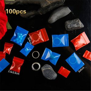 New 100pcs lots 20 Wires Colored Blue Red Bag Jewellery Bag Small Thickening Pocket Sealed Bags Accessories Jewelry