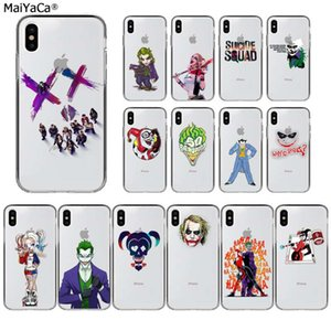 MaiYaCa Harley Quinn Suicide Squad Joker Wink Transparent TPU Telefon-Kasten für Apple iphone 11 pro 8 7 66S Plus X XS MAX 5S SE XR