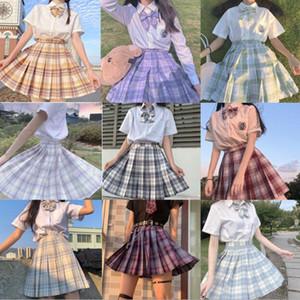 JK Kısa etek ekose pileli etek kız Koleji Etekler mult renkleri Kadın Yaz elbise 2020 Japon Okul Kıyafetleri