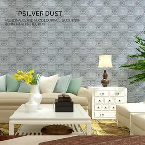 충돌 방지 거품 3D 스테레오 벽 스티커 홈 장식 TV 배경 벽 자체 접착 벽지 농축, 방수