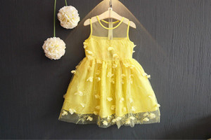 Kids Wedding Clothing Mesh Flower Girl's Dresses Summer New Ruffles Princess Girls Tulle Pageant Lace First Communion Dress