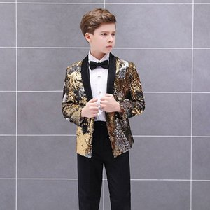 Children Formal Suit Jacket Wedding boys Dress Suit 3 Pieces set high quality Performance stage jacket size 2years -12 years hE4a#