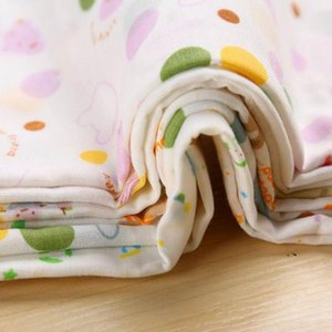 10PCS baby feeding towel teddy bear rabbit dot map printing children's small handkerchief gauze s nursing style random