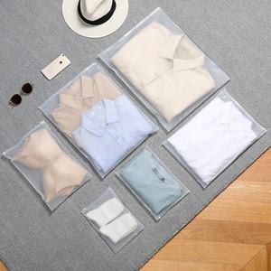 ug7G4 Transparent pe fermeture à glissière emballage Emballage sac à auto-étanchéité du vêtement imperméable à l'eau givré de Ziplock épaissie bouche étanchéité plastique b