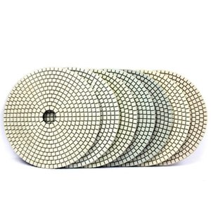 Beton Granit Mermer Taş Taşlama Disc için 7pcs 6 inç 150mm Elmas Polisaj Keçe Islak