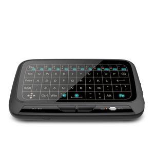 백라이트 용 안드로이드 스마트 TV와 함께 H18 + 2.4GHz의 무선 미니 키보드 전체 화면 QWERTY 키보드 터치 패드 마우스