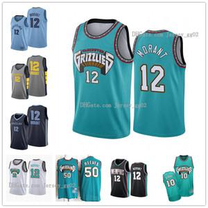 Mens VintageMemphisnbaGrizzlies Ja 12 Morant Vancouver Jersey 10 Mike Bibby 50 Reeves Shorts Basketball Maillots Cousu