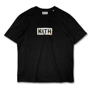 Caja floral clásico kith logotipo del hombre de las mujeres ocasionales de la camiseta de manga corta UNIQLO SESAME STREET ropa L camisetas de la moda ropa exterior tee calidad de tops