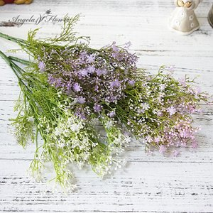 Mini 5 branches Star spike artificial flower home photography wedding bouquet accessories gypsophila fake babies breath flower
