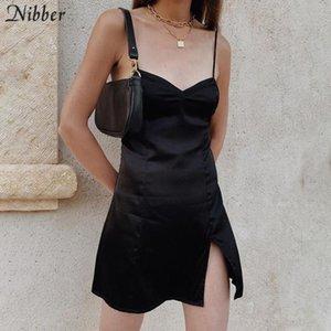 Nibber 2020 summer black basic short loose dresses womens street casual leisure vacation dresses Harajuku Slim mini dreess mujer