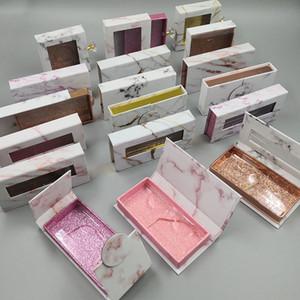 Nuevos pestañas holográficas caja 30/50/100 / 200pcs pestañas de papel suave de embalaje para las pestañas falsas 10 mm-25 mm