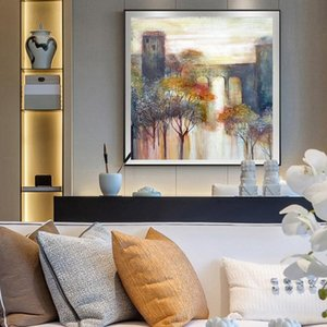 Abstract Landscape Posters Prints Nordic Colorful Tree Forest Oil Painting Wall Art Canvas Picture for Living Room Modern Home Decor
