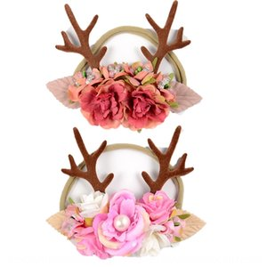 ins new fashion baby Christmas hair band antler ear nylon headband children's hair accessories gift