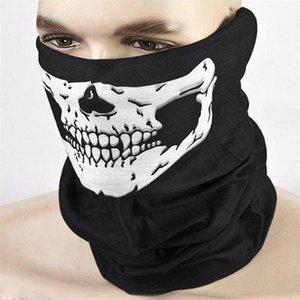 Halloween Party divertenti maschere all'aperto senza soluzione magica Skull Scarf maschera di protezione Sciarpa Ciclismo Equitazione maschere Designer riutilizzabile lavabile Veil libero DH