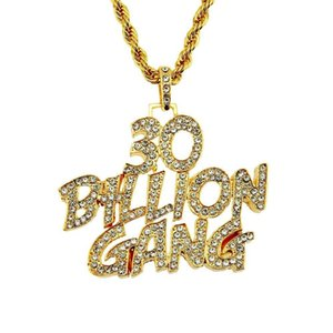 2020 designer necklace European and American men's necklace English letters diamond personalized hip-hop pendant jewelry