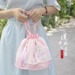 Qianli هانفو يوميا مع طبقة مزدوجة الشيفون جنية حقيبة كتف واحد ثنائي الغرض التطريز حقيبة يد مخصصة