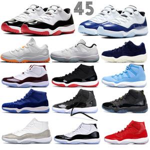 Yeni düşük Concord 45 Erkekler Basketbol Ayakkabı Yüksek OG 11'ler uzay sıkışması kapağı ve elbisesi pantone spor Jumpman Erkek Kadın Sneakers Trainer Bred