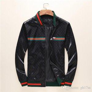 2020GG Italian fashion bee snake casual jacket windbreaker long sleeve men's jacket hoodie clothing zipper with animal 3D floral pattern