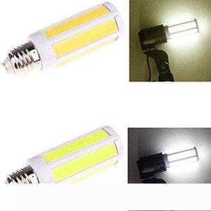 E27 9W COB LED de maíz proyector de la lámpara del bulbo de AC220V puros calientes Blanco brillante toros de iluminación tubos de LED