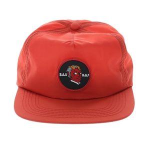 Özel 5 Paneli Yumuşak kırmızı ve Dokuma Etiket Yama Hip Hop Boş Kapaklı yeşil naylon Yapısal Olmayan Baba Şapka Snapback kap