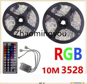 10M светодиодные ленты 3528 RGB Гибкий свет без влагозащиты DC 12V 300LEDs с 44 ключами ИК-пульт дистанционного управления Комплект