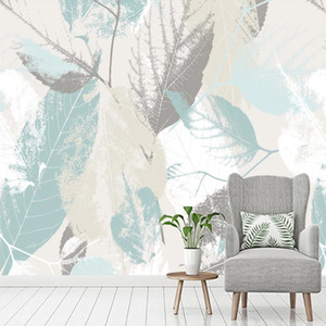 Custom Photo Wallpaper Modern Hand Painted Leaves Abstract Art Murals Living Room TV Sofa Bedroom Home Decor Papel De Parede 3D