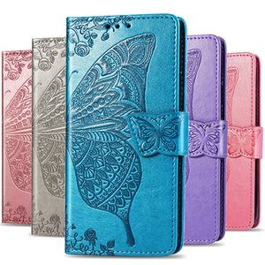 Embossed Butterfly Phone Case For iPhone 11 Pro X XS Max XR Flip Case Leather Wallet Case for iPhone 8 7 Plus 6 6S Coque Fundas