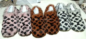 Limited edition full mink hair home and hotel slippers Latest Light and comfortable soles Womens Soft warm Fur Leather slippers B03