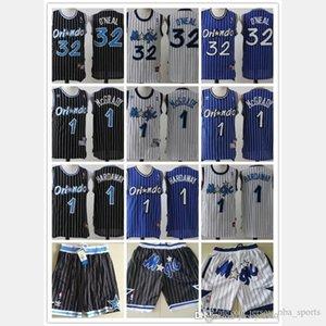 Mens OrlandoMagic Throwback Jersey Shaquille 32 O Neal Penny 1 Hardaway Tracy 1 McGrady Basketball Shorts Basketball Jerseys