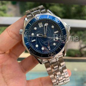 Armband Armband Mens-mechanische 2813 Automatik-Uhrwerk Edelstahl-Uhr James Bond 007 Herren Uhren Mode-Armbanduhr