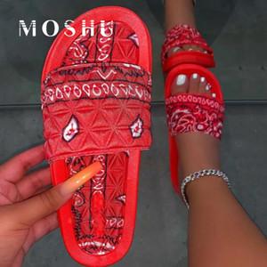 Verano mujeres de las sandalias de playa zapatos de moda 2020 Mujer de diapositivas sandalias de las señoras zapatos planos resbalón en Sandles Femme Sandalias Mujer