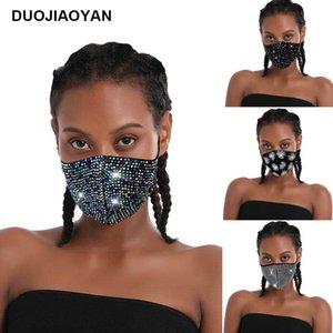 mascarilla ücretsiz gemi flaş elmas taklidi yıldızı Pullarda gece kulübü parti Polyester Spandex özel cam matkap nokta kişiselleştirilmiş mask