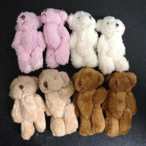 hxltoystore 6cm Plush Mini Teddy Bear Long Wool Small Bear Stuffed Animals Toys Plush Pendants For Key chain Bouquet 4color