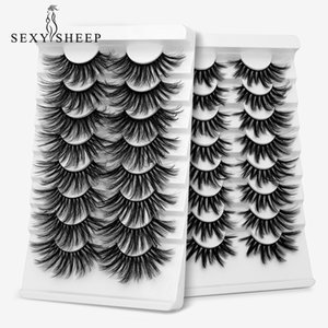 SEXYSHEEP 4 8 pairs 3D Mink Lashes Natural False Eyelashes Dramatic Volume Fake Lashes Makeup Eyelash Extension Silk Eyelashes