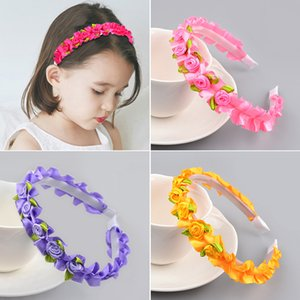 New Arrival 1PC Flower girl's Wreath Little Maid Of Honor Bride's Headband Graceful High Quality Exquisite Gifts 8 Colors